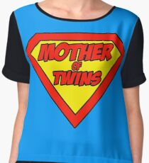 Super mom Mother of Twins Chiffon Top