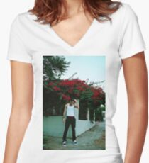 Lil Skies Women's Fitted V-Neck T-Shirt