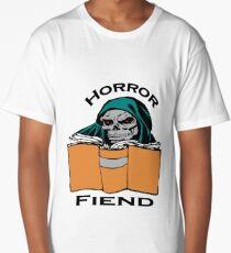 Horror Book Fiend Avid Reader Art Long T-Shirt