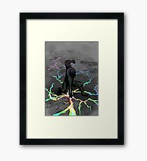 Rainbow smash Framed Print