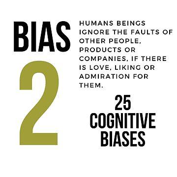 25 COGNITIVE BIASES MUG/Bias 2  by 25cognitivebias