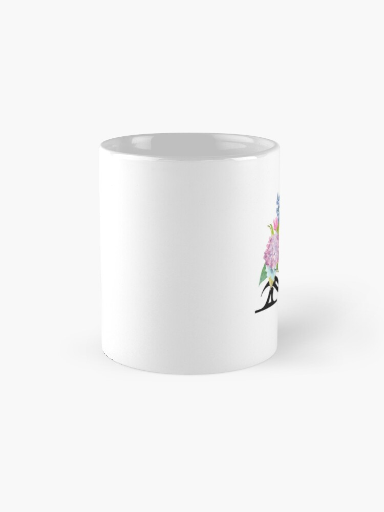 Alternate view of Pretty Pastel Watercolor Floral Letter A Mug