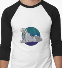 Hippo in the Water Men's Baseball ¾ T-Shirt