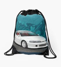 Integra dc2 with b series background Drawstring Bag