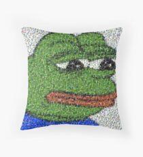 Sad Pepe Collage Throw Pillow