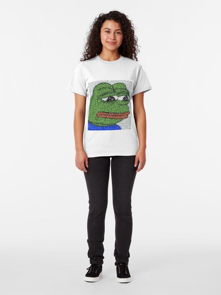 Alternative Ansicht von Traurige Pepe-Collage Classic T-Shirt