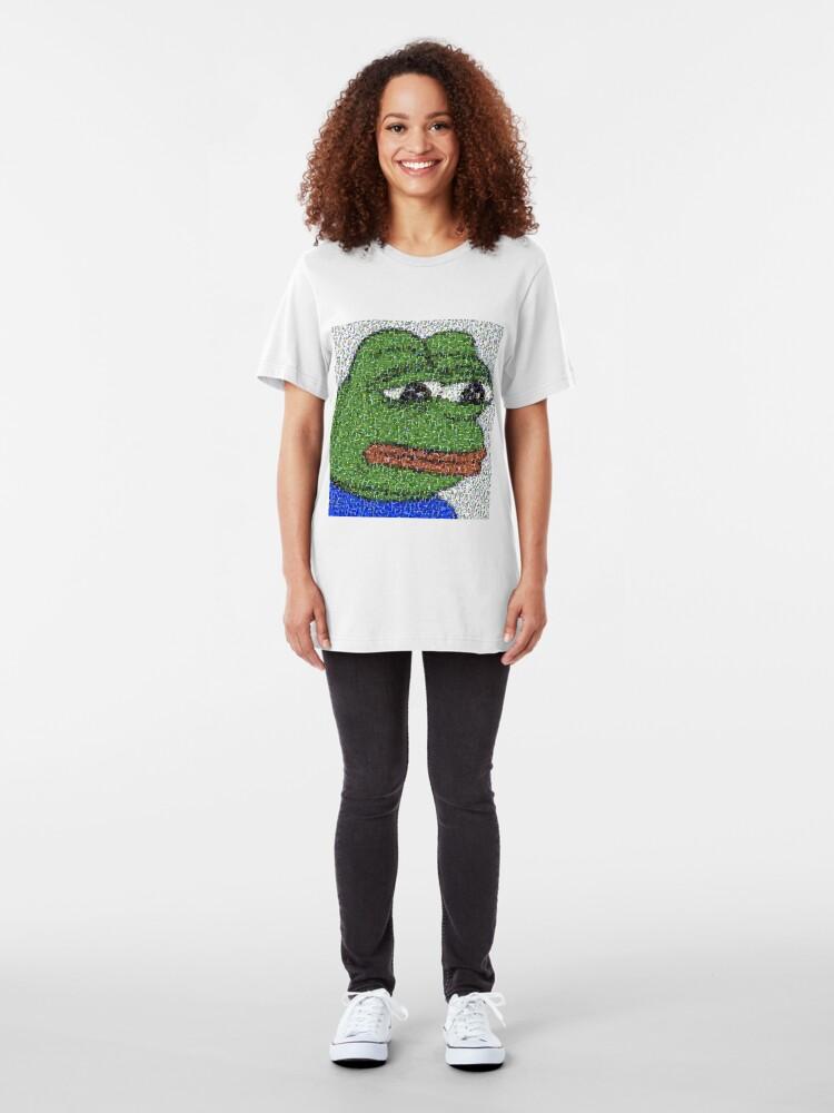 Alternative Ansicht von Traurige Pepe-Collage Slim Fit T-Shirt