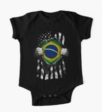 Brazilian American Flag USA Brazil One Piece - Short Sleeve