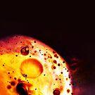 "Abstrakte Kunst - Roter Mond - ""red moon"" von sibelscribble"