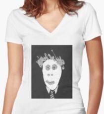 Slenderman - Le Spectre Women's Fitted V-Neck T-Shirt