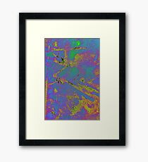 Ice Crystals on the Sidewalk III Framed Print