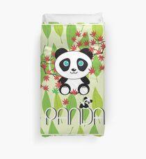 Small Panda Bear Lyrics Stencil Panda Cute Duvet Cover