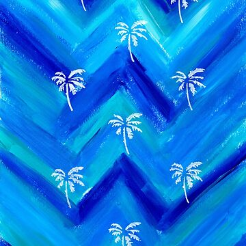 Blue Palm Tree pattern by mscottartMJs