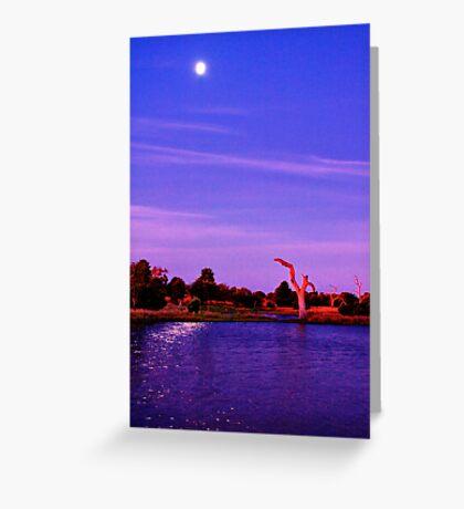 """Moonlight Over Minya"" Greeting Card"
