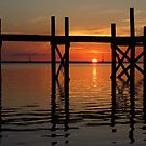 Other Shore Dock at Sunset  by Amanda Diedrick