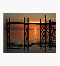 Other Shore Dock at Sunset  Photographic Print