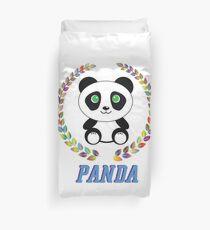 Small Panda Bear Lyrics Stencil Panda Cute Small Panda Bear Facts Duvet Cover