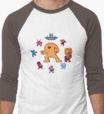 ManMega One Pixels Men's Baseball ¾ T-Shirt