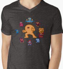 ManMega One Pixels Men's V-Neck T-Shirt