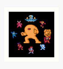 ManMega One Pixels Art Print