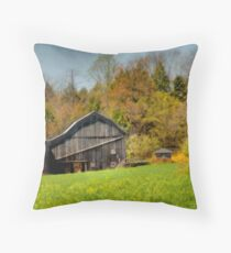 Western Pennsylvania Barn Throw Pillow