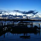 Hope Town Harbour at Dusk  by Amanda Diedrick
