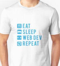 Eat Sleep Web Dev Repeat BLUE Unisex T-Shirt