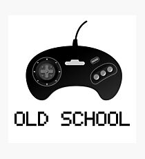 Old school - Sega Genesis Controller Photographic Print