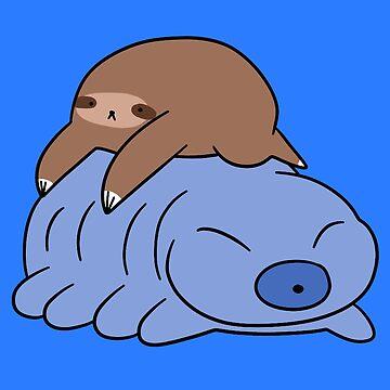 Little Sloth and Waterbear  by SaradaBoru