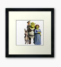 The Shrek Family Framed Print