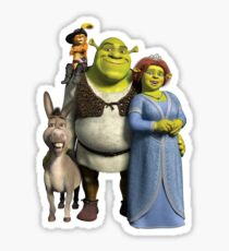 The Shrek Family Sticker