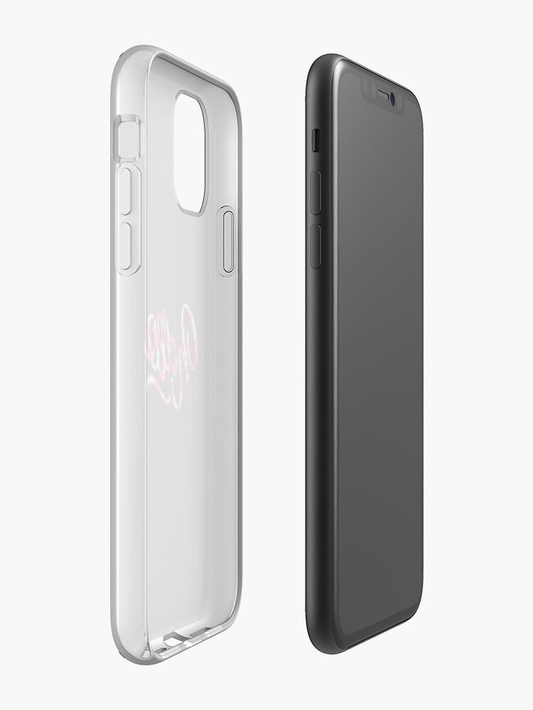 """Coque iPhone «""""Bonjour"""" Typographie Design», par StylishTayla"""