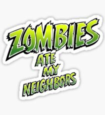 Zombies Ate My Neighbors! Sticker