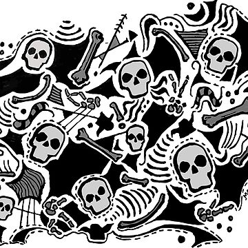 Abstract Skulls and Bones by MVanHyll