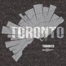 Toronto Map von UrbanizedShirts