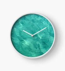 Bahama Blue Print Clock