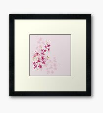 Spring Cherry Blossom Floral Watercolor Style Framed Print