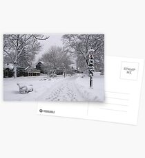 Village Green, Holiday Season, Bar Harbor, Maine Postcards