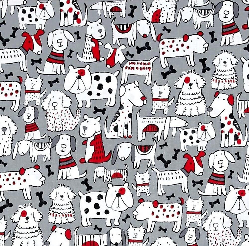 Animal Cartoon Art, Dog Collage Illustration by Melody Koert
