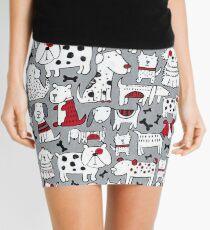 Animal, Art, Clipart, I Love Dogs Mini Skirt