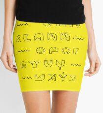 Typography Mini Skirt