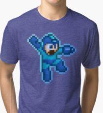 Megaman Jump Shoot Tri-blend T-Shirt