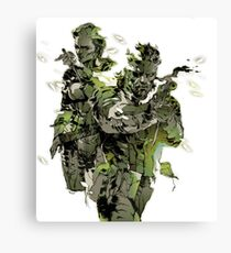 Metal Gear Solid 3 - Snake and The Boss Canvas Print