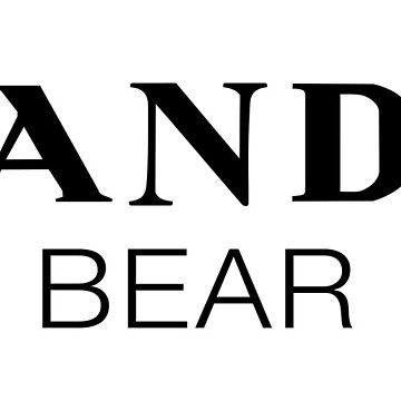 Designer Panda Bear Modern by Carlynn
