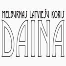 Daina | Official | Art Deco | black text by Roberts Birze