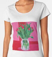 Red Tulips Women's Premium T-Shirt