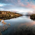 Lake Padarn Sunset by Adrian Evans