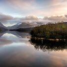 Padarn Lake Sunset by Adrian Evans