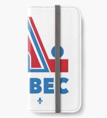 Nordiques Quebec Hockey Team Avalanche Vintage with fleurs de lys iPhone Wallet/Case/Skin