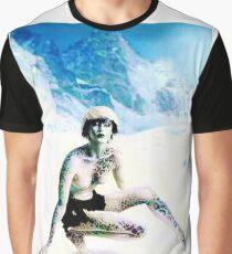 Snow leopard woman Graphic T-Shirt